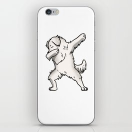 Funny Dabbing Great Pyrenees Dog Dab Dance iPhone Skin