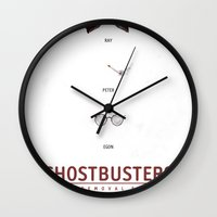 ghostbusters Wall Clocks featuring Ghostbusters by Duke Dastardly