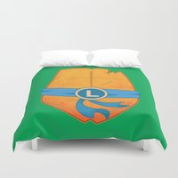 leonardo Duvet Covers featuring Leonardo Turtle by Salina Ayala