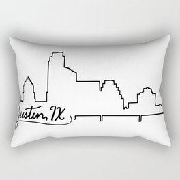 Austin Skyline Rectangular Pillow
