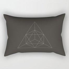 Geometric Dark Rectangular Pillow