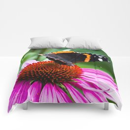 Red Admiral Butterfly Comforters
