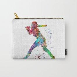 Baseball Softball Player Sports Art Print Watercolor Print Girl's softball Carry-All Pouch