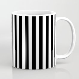 Vertical Stripes (Black/White) Coffee Mug