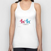 dogs Tank Tops featuring dogs  by mark ashkenazi