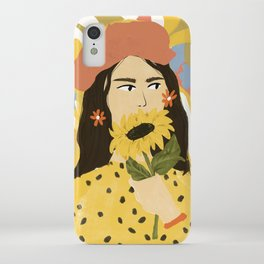 Sunflowers In Your Face iPhone Case