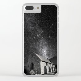 Church of the Good Shepherd under the stars. Clear iPhone Case