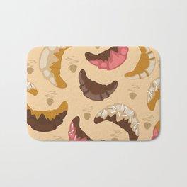 Croissant background Bath Mat