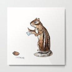 Chipmunk Metal Print