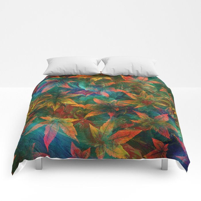 Chasing Leaves Comforters