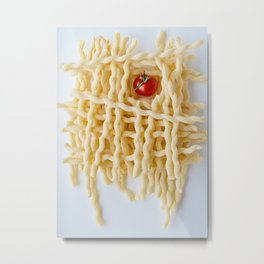 Pasta Sculpture Metal Print