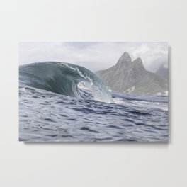 Waves at Ipanema - Rio de Janeiro Metal Print