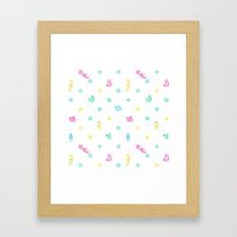 Sloth Dot Framed Art Print