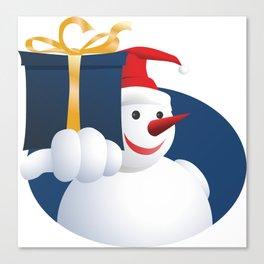 Giving Snowman... Canvas Print
