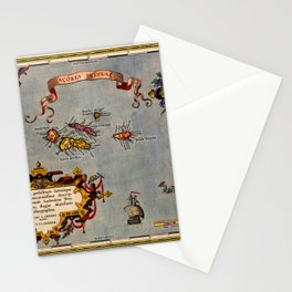 Map Of The Azores 1606 Stationery Cards
