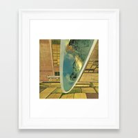 mirror Framed Art Prints featuring mirror by Hugo Barros