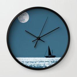 Sailing at Night Wall Clock