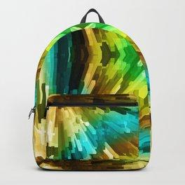 Golden Aqua Burst Backpack