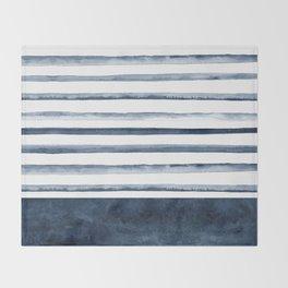 Watercolor Stripes Pattern Throw Blanket