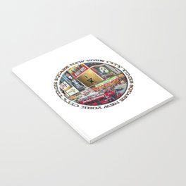 Times Square New York City (badge emblem on white) Notebook