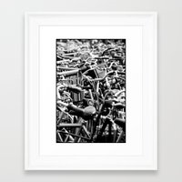 bicycles Framed Art Prints featuring Bicycles by Zita Hisschemöller
