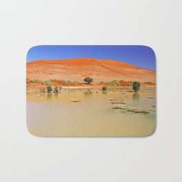 Water in the Namib desert after rain season, Namibia Bath Mat