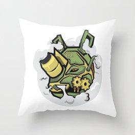 RHINO MECH STICKER - VAPORZOO Throw Pillow