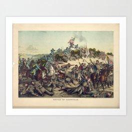 Civil War Battle of Nashville December 15-16 1864 Art Print