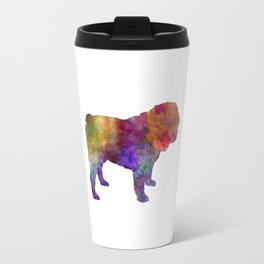 English Bulldog in watercolor Travel Mug
