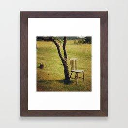 One Chair, Under A Tree. Framed Art Print