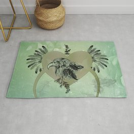 Wonderful eagle with feathers Rug