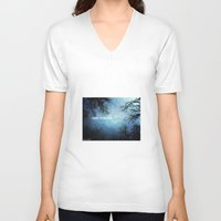 i want to believe V-neck T-shirts featuring I want to believe... by Julia Kovtunyak