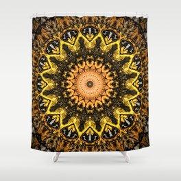 Gold Star Bohemian Mandala Design Shower Curtain