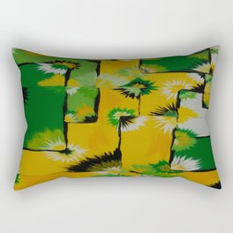 Lemon Lime Blossom Query Rectangular Pillow