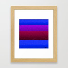 Blue Purple and Burgundy Passion Framed Art Print