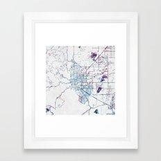 Boulder map Colorado Framed Art Print