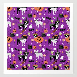 Boston Terrier Halloween - dog, dogs, dog breed, dog costume, cosplay cute dog Art Print