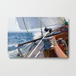 Sailing in the bay of Palma de Mallorca- Nautical Photography- Sailing Photography  Metal Print