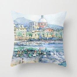 Pegli d'estate Throw Pillow