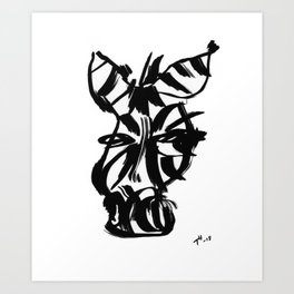 Zebra - Fusion of pen strokes Art Print