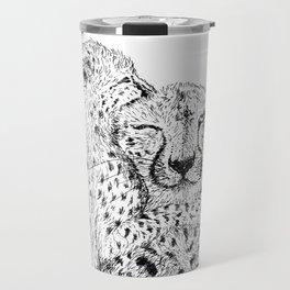 Cheetah hug Travel Mug