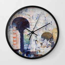 Arthur Streeton - Cairo Street, Or Mosque, Sultan Hassan - Digital Remastered Edition Wall Clock