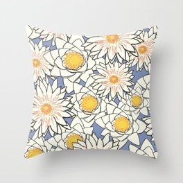 Chrysanthemum Floral  Throw Pillow