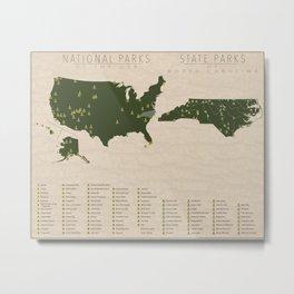 US National Parks - North Carolina Metal Print
