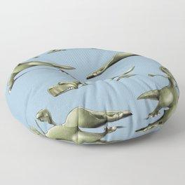 Yogasaurs (Blue) Floor Pillow