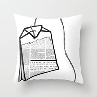 literary Throw Pillows featuring Literary Tea by Lizzi Davis
