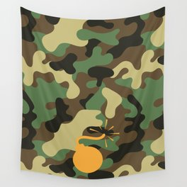 CAMO & ORANGE BOMB DIGGITY Wall Tapestry