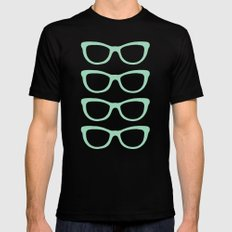 Glasses #5 MEDIUM Black Mens Fitted Tee