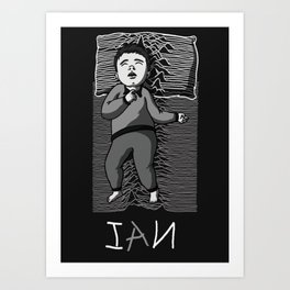 Sleeping artist IAN Art Print
