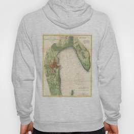 Vintage Map of Plattsburgh New York (1872) Hoody